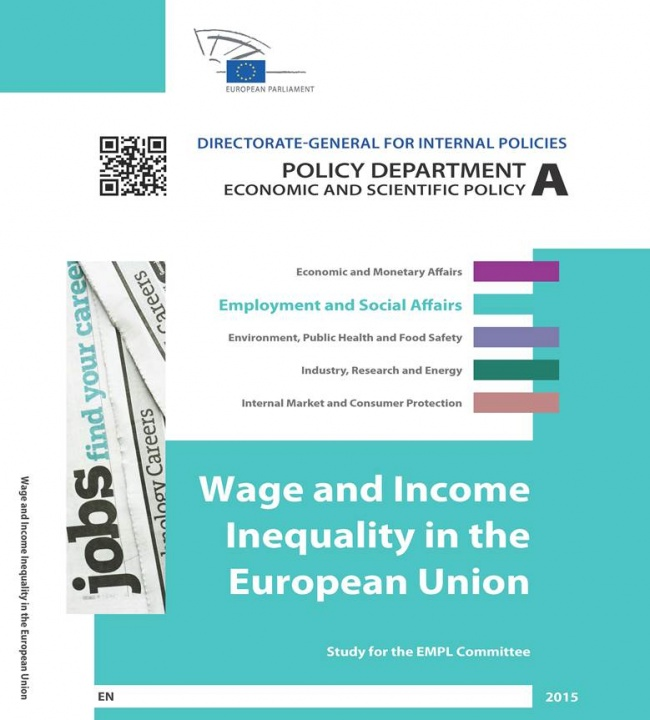 El Parlamento Europeo ha publicado los resultados del estudio Wage dispersion in the EU, realizado por el AQR-Lab de la UB