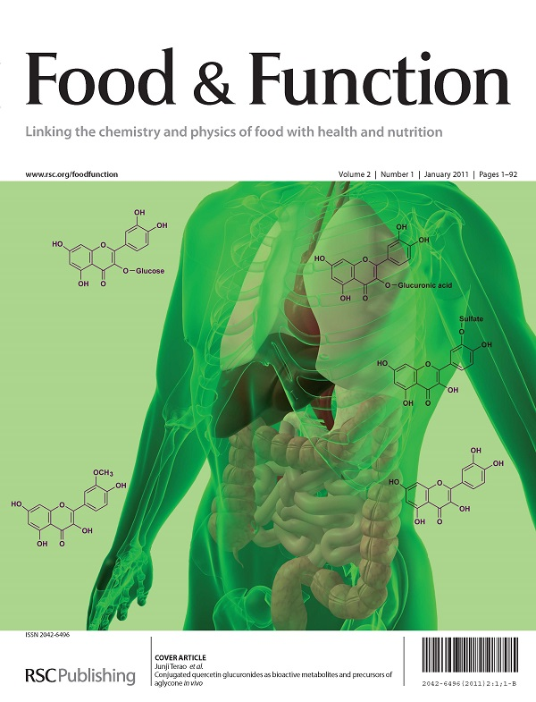 Portada revista 'Food & Function'/ULE